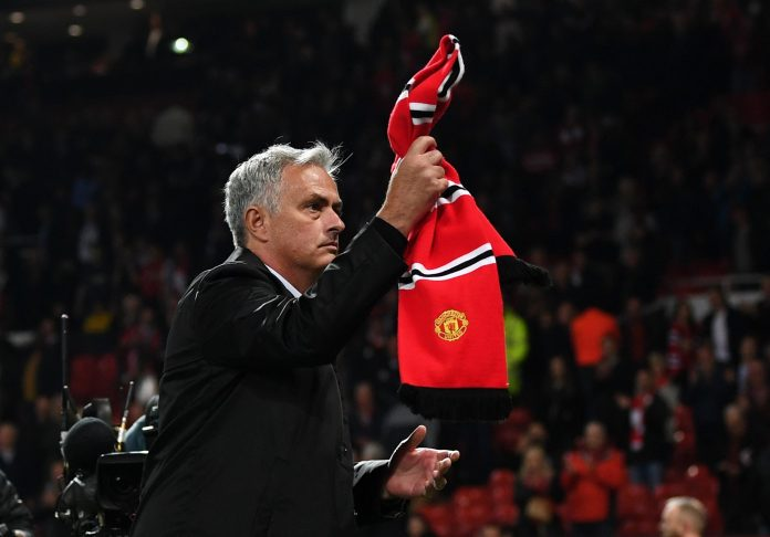 Jose Mourinho applauds Manchester United fans