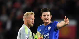 Kasper Schmeichel and Harry Maguire