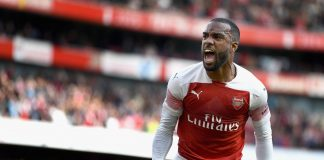 Alexandre Lacazette of Arsenal