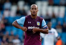 Gabriel Agbonlahor of Aston Villa during the Pre-Season Friendly between AFC Telford United and Aston Villa at New Bucks Head Stadium