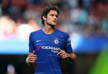 Marcos Alonso of Chelsea during the Premier League match between Chelsea FC and AFC Bournemouth at Stamford Bridge