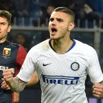 Mauro Icardi of FC Internazionale celebrates after penalty 0-2 during the Serie A match between Genoa CFC and FC Internazionale at Stadio Luigi Ferraris