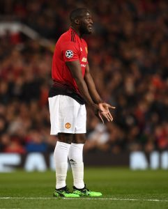 Manchester United player Romelu Lukaku in action