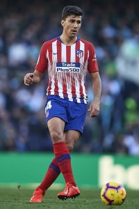 "Rodrigo Hernandez ""Rodri"" of Club Atletico de Madrid runs with the ball during the La Liga match between Real Betis Balompie and Club Atletico de Madrid"