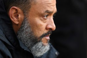 Nuno Espirito Santo, Manager of Wolverhampton Wanderers looks on prior to the Premier League match between Wolverhampton Wanderers and Arsenal FC