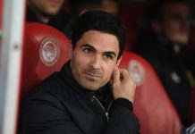 Arsenal msanager Mikel Arteta before the UEFA Europa League round of 32 first leg match between Olympiacos FC and Arsenal FC