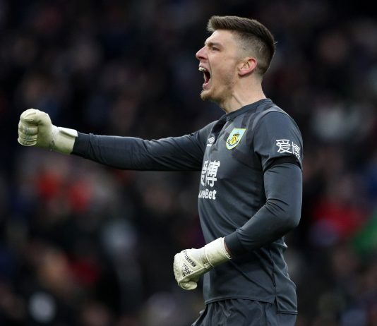 Burnley goalkeeper Nick Pope