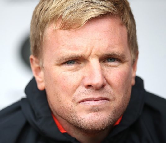 Bournemouth manager Eddie Howe is seen during the Premier League match between Burnley FC and AFC Bournemouth