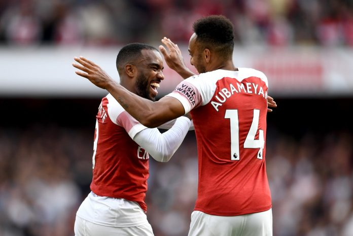 Arsenal stars Alexandre Lacazette and Pierre-Emerick Aubameyang