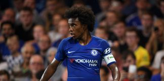 Willian of Chelsea looks on during the pre-season friendly match