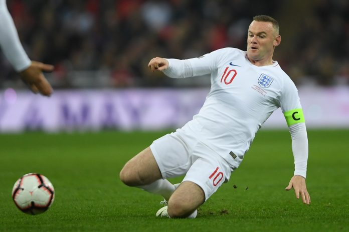Wayne Rooney of England in action during the International Friendly match between England and United States