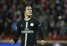 Paris Saint-Germain striker Edinson Cavani