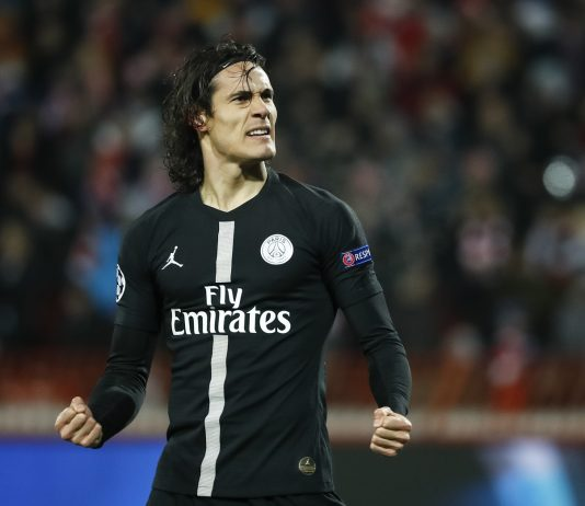 Paris Saint-Germain striker Edinson Cavani